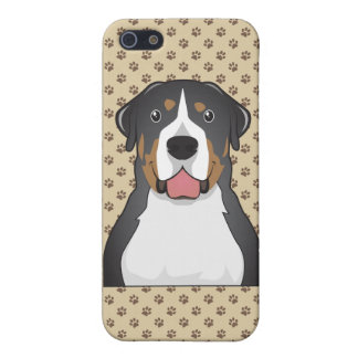 Mayor dibujo animado suizo del perro de la montaña iPhone 5 protectores