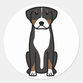 Mayor dibujo animado suizo del perro de la montaña pegatina redonda