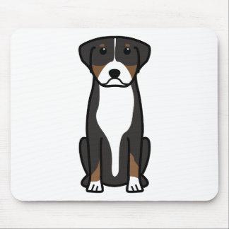 Mayor dibujo animado suizo del perro de la montaña tapetes de raton