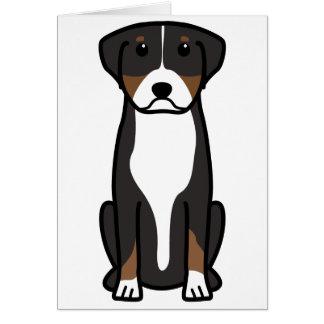 Mayor dibujo animado suizo del perro de la montaña tarjeta de felicitación