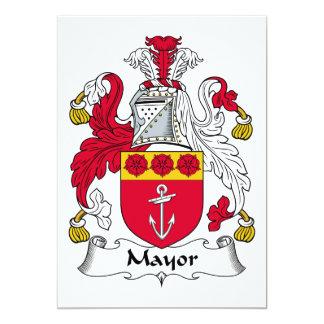 Mayor Family Crest Custom Announcement