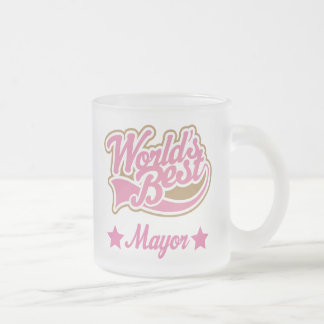 Mayor Gift (Worlds Best) Frosted Glass Coffee Mug