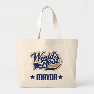 Mayor Gift (Worlds Best) Large Tote Bag