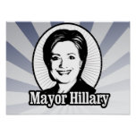 MAYOR HILLARY -.png Posters