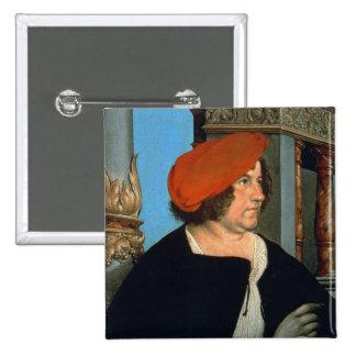 Mayor Jakob Meyer zum Hasen, 1516 (tempera on lime Pinback Button