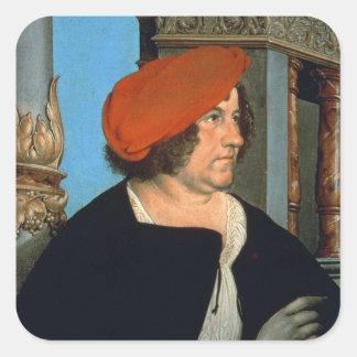 Mayor Jakob Meyer zum Hasen, 1516 (tempera on lime Square Sticker