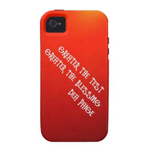 MAYOR LA PRUEBA MAYOR LA BENDICIÓN VIBE iPhone 4 CARCASAS