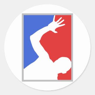 Mayor League man figure! exclusive design! Classic Round Sticker