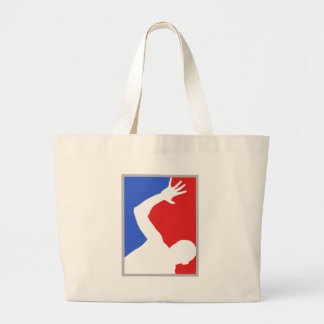Mayor League man figure! exclusive design! Large Tote Bag