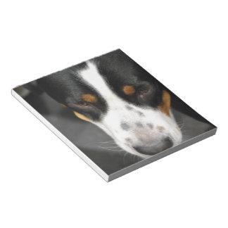 Mayor libreta suiza del perrito del perro de la mo libreta para notas