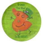 Mayor Orange O'Paddy Party Plate