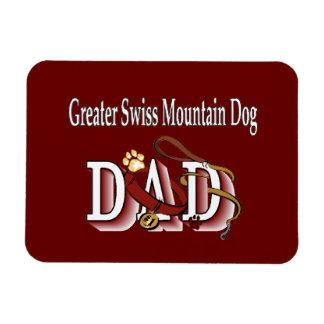 Mayor papá suizo del perro de la montaña imanes rectangulares