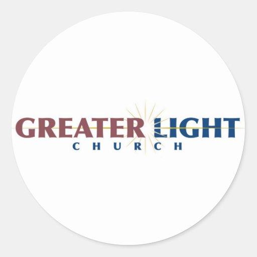 Mayor pegatina ligero de la iglesia