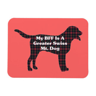 Mayor perro suizo BFF de la montaña Iman Rectangular