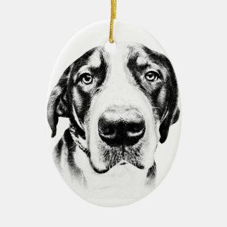 Mayor perro suizo de la montaña adornos de navidad