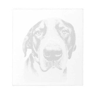 Mayor perro suizo de la montaña bloc de papel