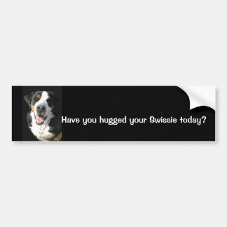 Mayor perro suizo de la montaña: Pegatina para el  Etiqueta De Parachoque