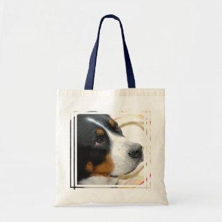 Mayor perro suizo dulce de la montaña bolsa tela barata