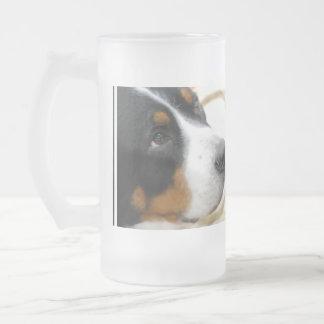 Mayor perro suizo dulce de la montaña taza de cristal