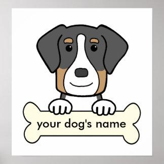 Mayor perro suizo personalizado de la montaña posters
