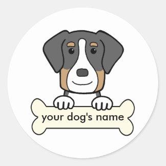 Mayor perro suizo personalizado de la montaña pegatina redonda