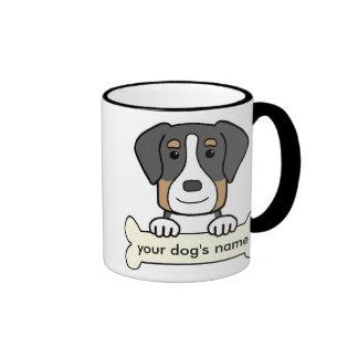 Mayor perro suizo personalizado de la montaña taza de dos colores