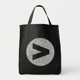 Mayor que bolso del logotipo bolsa tela para la compra