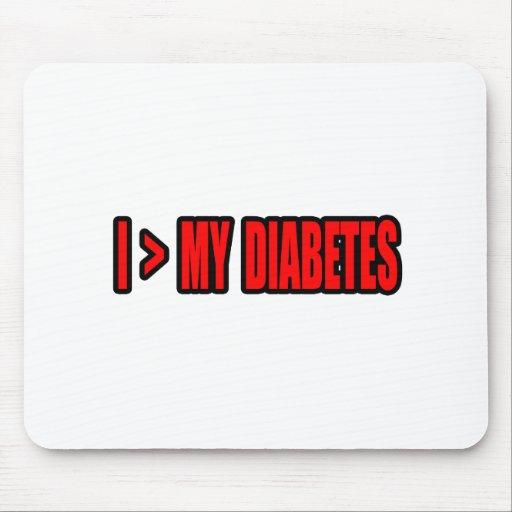Mayor que mi diabetes alfombrillas de ratones