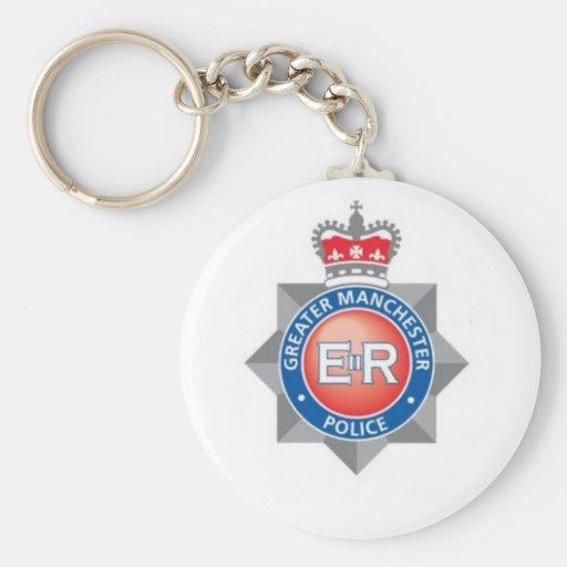 Mayor recuerdo de la policía de Manchester Llaveros Personalizados