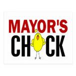 MAYOR'S CHICK POST CARD