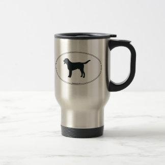 Mayor silueta suiza del perro de la montaña taza de café