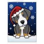 Mayor tarjeta de Navidad suiza del perro de la mon