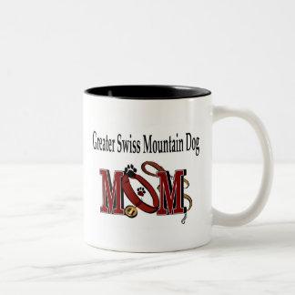 Mayor taza suiza de la mamá del perro de la montañ