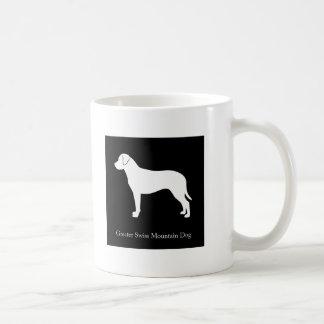 Mayor taza suiza del perro de la montaña (negro)