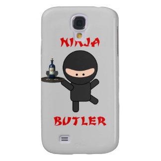 Mayordomo de Ninja con la bandeja Funda Para Galaxy S4
