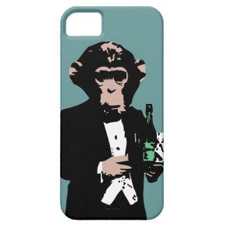 Mayordomo del mono funda para iPhone 5 barely there