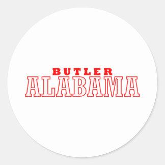 Mayordomo, diseño de la ciudad de Alabama Pegatina Redonda