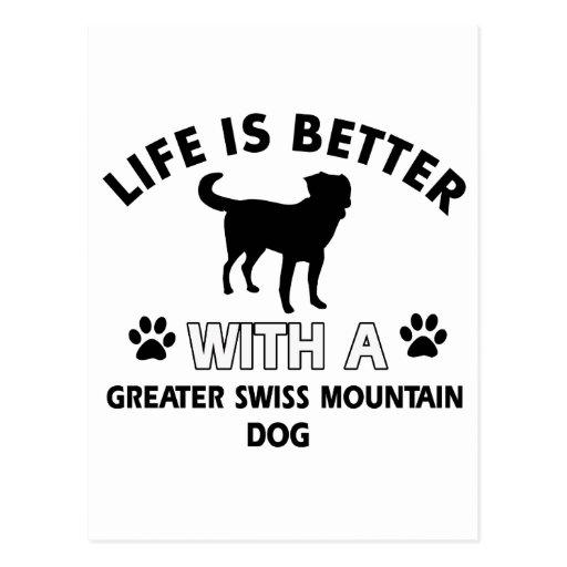 Mayores diseños suizos del perro de la montaña postales