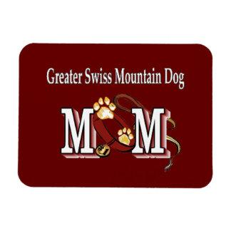 Mayores regalos suizos de la mamá del perro de la  imanes de vinilo