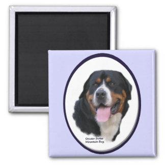 Mayores regalos suizos del perro de la montaña imán cuadrado