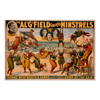 Mayores trovadores - manojo de payasos en la playa póster
