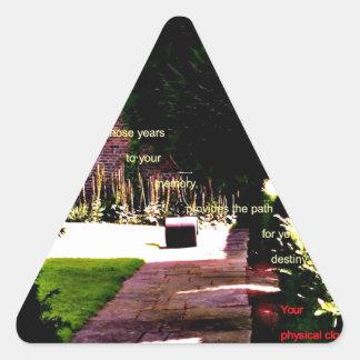 Mayoría de edad pegatina triangular
