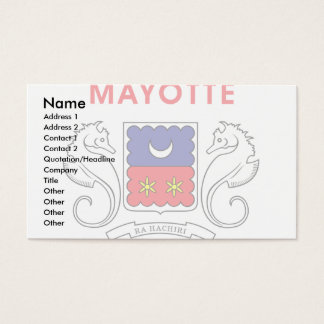 Mayotte Flag Business Card