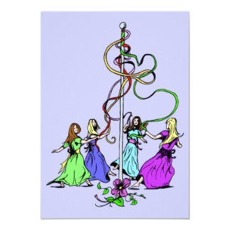 Maypole Dancers Invitation