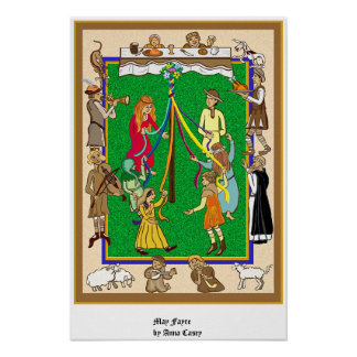 Maypole, Fayre medieval Posters