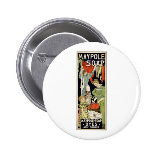 Maypole Soap Dyes Any Colour - Netherlands 1896 Pin