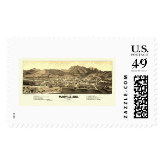 Maysville, CO Panoramic Map - 1882 Postage Stamps