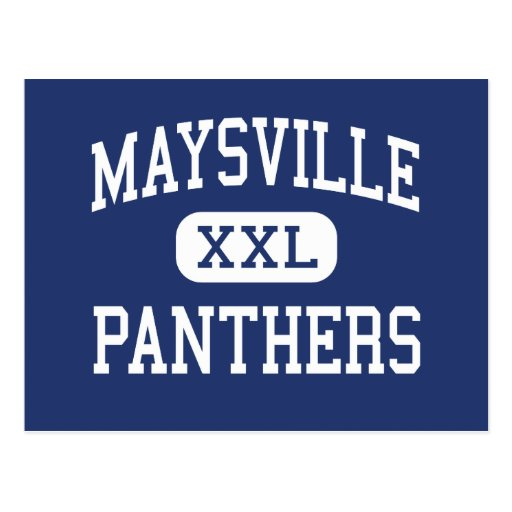 Maysville Panthers Middle Zanesville Ohio Post Card