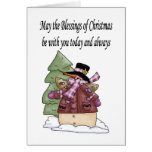 MaytheblessingsofChristmas Greeting Card