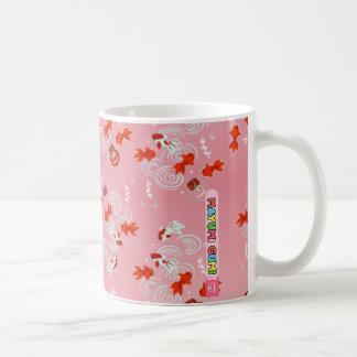 Mayumi Gumi Kawaii Kingyo (goldfish) Classic White Coffee Mug